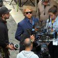 """Rupert Grint pendant le tournage de la série """"Snatch"""" à Malaga, Espagne, le 3 avril 2018."""