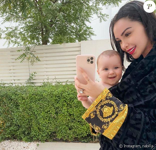 Nabilla Benattia et Milann, le 26 avril 2020, sur Instagram