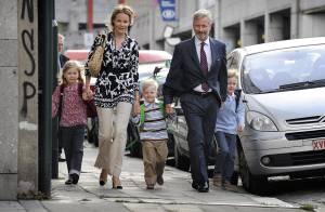 C'est la rentrée pour les petits princes de Belgique... et leurs nobles parents ne pouvaient pas rater ça !
