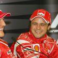 Felipe Massa et Michael Schumacher lors du Grand Prix du Japon en octobre 2006.