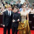 """Rupert Grint, Daniel Radcliffe et Emma Watson à la première du film """"Harry Potter et les Reliques de la mort - Partie 2"""" à New York en 2011."""