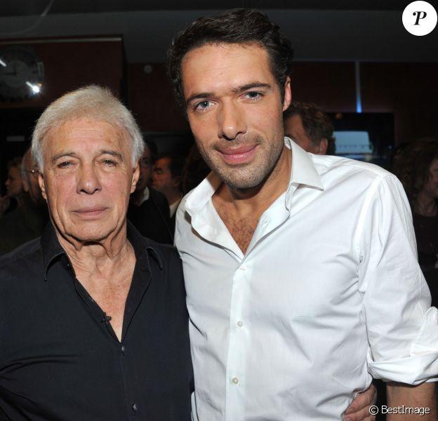 Exclusif - Guy et son fils Nicolas Bedos - Aftershow du spectacle de Guy Bedos La der des der à l'Olympia a Paris. Le 23 décembre 2013.