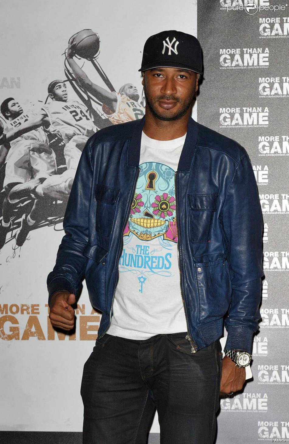 Sammy Traoré au cinéma Publicis, sur les Champs-Elysées, à l'occasion de l'avant-première de  More than a Game , le documentaire consacré à LeBron James, à Paris, le 2 septembre 2009 !