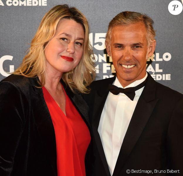Paul Belmondo et sa femme Luana au photocall de la cérémonie de clôture de la 15ème édition du Monte-Carlo Film Festival de la Comédie, au Grimaldi Forum à Monaco, le 3 mars 2018. © Bruno Bebert/Bestimage