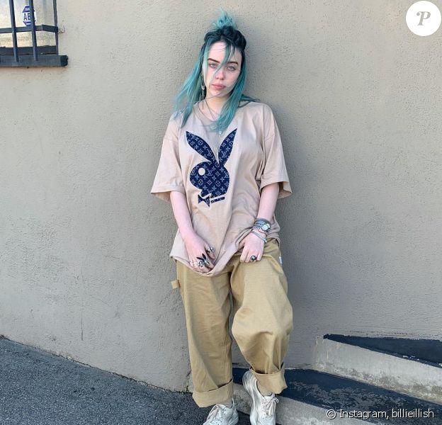 Billie Eillish tape la pose sur Instagram.