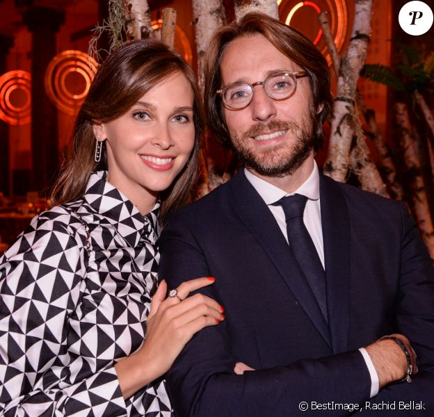 Exclusif - Ophélie Meunier et son mari Mathieu Vergne - Dîner de la Fondation ARC au Pavillon Cambon-Capucines à Paris, le 7 octobre 2019. © Rachid Bellak / Bestimage