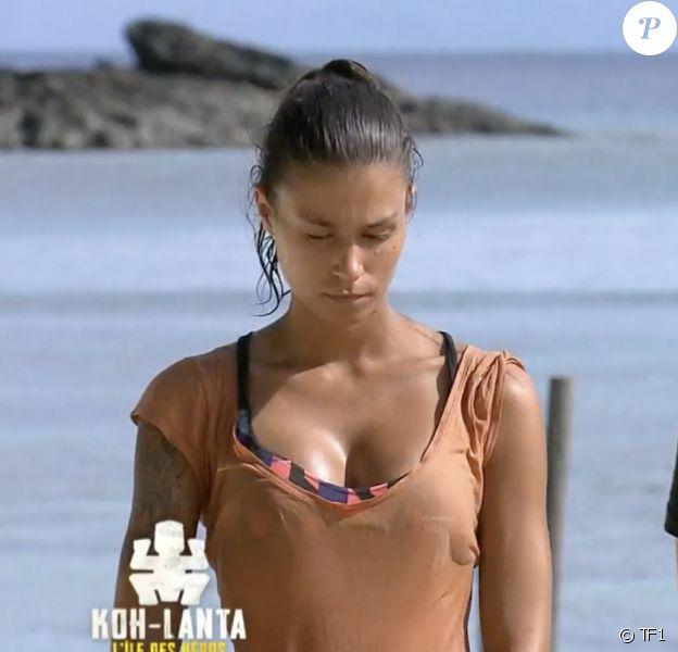 """Claude et Inès lors de l'épreuve des poteaux durant la finale de """"Koh-Lanta, l'île des héros"""" (TF1) vendredi 5 juin 2020."""