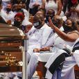 Cérémonie des obsèques de George Floyd en l'église Fountain of Praise à Houston le 9 juin 2020. © David J. Phillip/POOL via ZUMA Wire / Bestimage