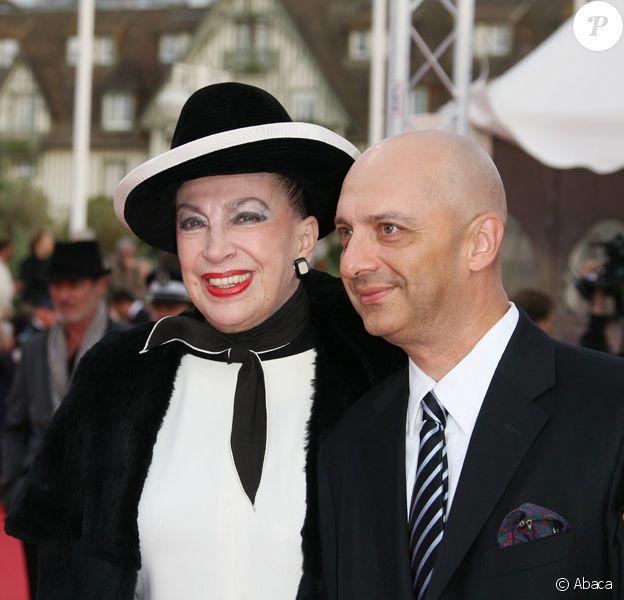 Geneviève de Fontenay et son fils Xavier lors de la cérémonie d'ouverture du Festival de Deauville le 4 septembre 2009