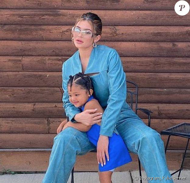 Kylie Jenner et sa fille Stormi. Juin 2020.