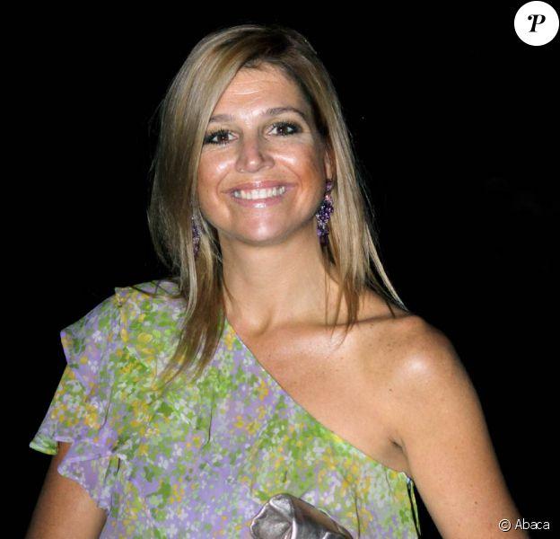 Maxima des Pays-Bas a assisté au mariage religieux de Bernardo Guillermo et Eva Prinz-Valdez, le 4 septembre 2009 à New York