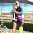 Katie Piper et son mari Richard Sutton - Katie Piper participe à une course à pied en faveur de sa fondation au parc olympique Reine Elisabeth à Londres le 4 mars 2017.