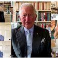 Le prince Charles - Pendant l'épidémie de coronavirus (Covid-19), les membres de la famille royale britannique remercient les soignants en vidéoconférence lors de la Journée internationale des infirmières. Londres. Le 12 mai 2020.