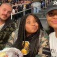 Violet (9 ans), la fille de Christina Milian, sur Instagram. Avec M. Pokora au Staples Center. Février 2020.