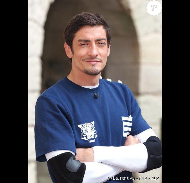 """Claude de (""""Koh-Lanta"""") - Photo prise lors du tournage de """"Fort Boyard"""" en juin 2020."""