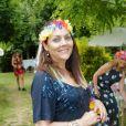 Exclusif - Hermine de Clermont-Tonnerre - Garden party organisée par Babette de Rozières chez elle à Maule le 30 juin 2019. © Jean-Claude Woesteland/Bestimage