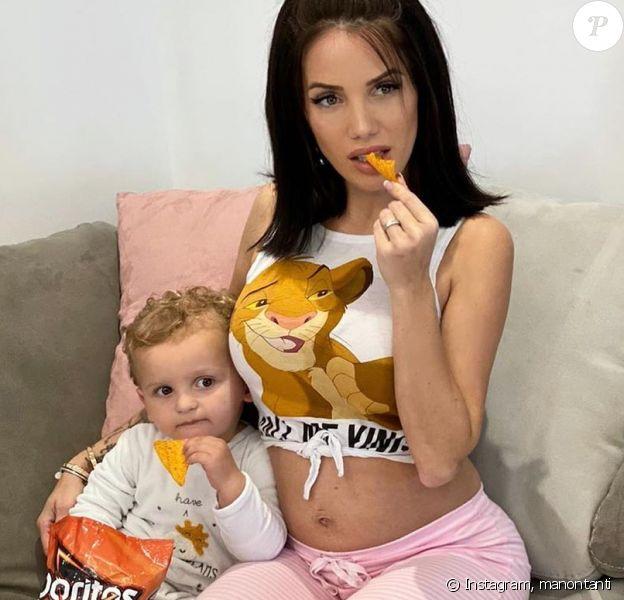 Manon Marsault et son fils Tiago, le 18 avril 2020