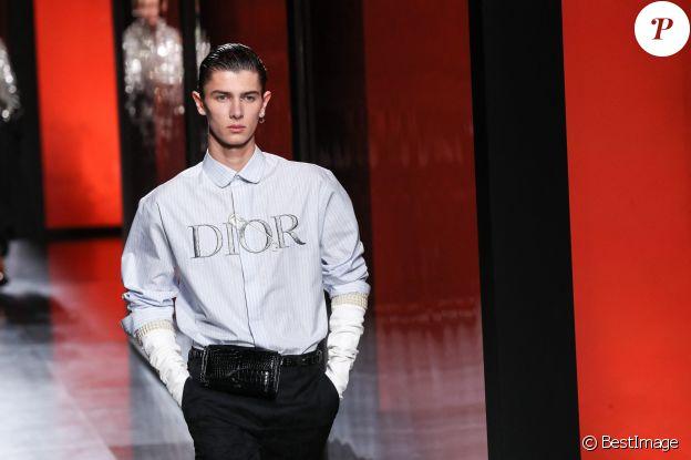 """Nikolai de Danemark lors du défilé de mode Homme automne-hiver 2020/2021 """"Dior Homme"""" à Paris. Le 17 janvier 2020"""
