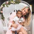 Emilie Fiorelli avec sa fille Louna, le 6 avril 2020
