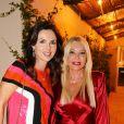 Exclusif - Caroline Barclay, Monika Bacardi lors de la soirée d'inauguration de l'Hôtel Lou Pinet et du restaurant Beefbar à Saint-Tropez, le 11 juillet 2020. © Luc Boutria / Nice Matin / Bestimage