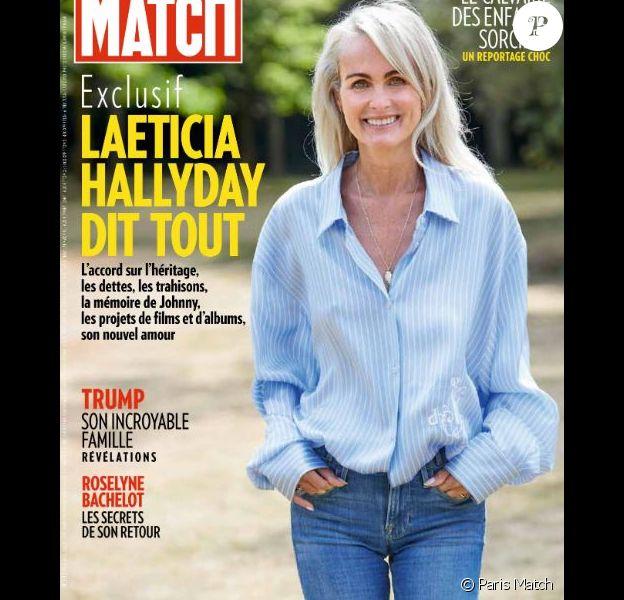 """Laeticia Hallyday en couverture de """"Paris Match"""", numéro du 16 juillet 2020."""
