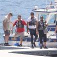 La famille de Naya Rivera se retrouvent au lac Piru pour participer à la recherche du corps le 11 juillet 2020.
