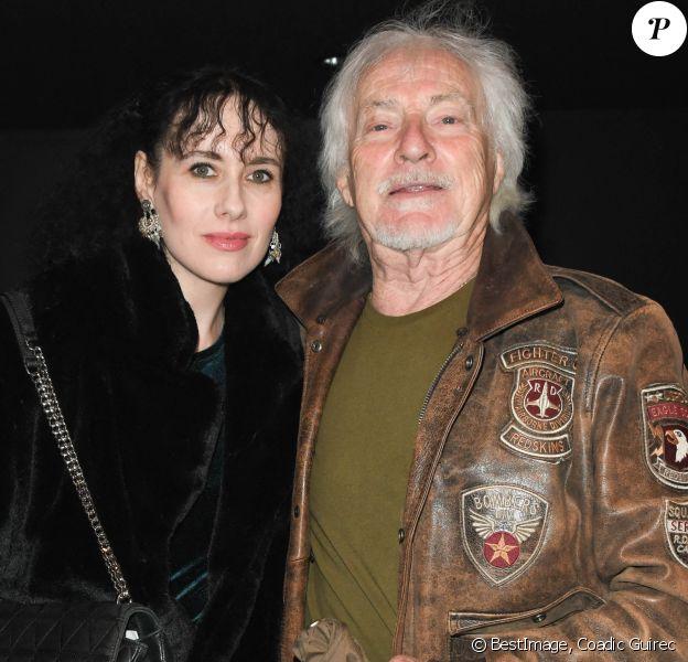 Exclusif - Hugues Aufray et sa compagne Muriel - People au concert de Dave à Bobino à Paris le 18 novembre 2019. © Coadic Guirec/Bestimage