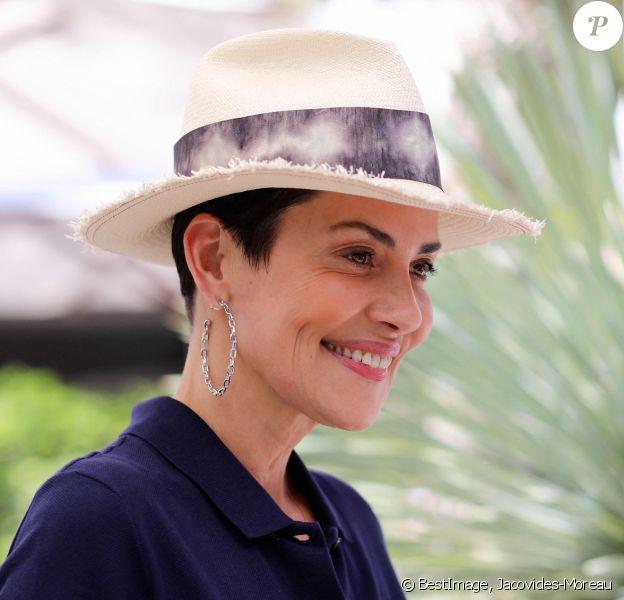Cristina Cordula au village lors des internationaux de tennis de Roland Garros à Paris, France, le 2 juin 2019. © Jacovides-Moreau/Bestimage