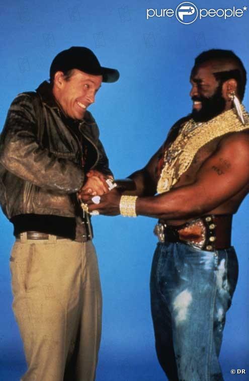 Dwight Schultz (Looping) et Mister T (Barracuda) de L'Agence tous risques