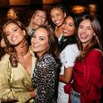 Malika Ménard fête ses 33 ans avec ses copines Miss France et Alexandre Ghislain, co-propriétaire du Raspoutine et organisateur de AZUR, un bar d'été éphémère à Paris -