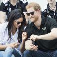 Le prince Harry et Meghan Markle en septembre 2017 lors des Invictus Games à Toronto, leur première apparition publique en couple.