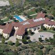 Vue aérienne, en mai 2015, de la propriété de Tyler Perry à Beverly Hills, où le prince Harry et Meghan Markle se sont installés en mars 2020.