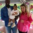 Emilie Fiorelli et M'Baye Niang pour les 2 ans de leur fille Louna, le 22 avril 2020