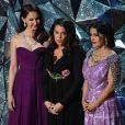 Ashley Judd, Annabella Sciorra et Salma Hayekaux Oscars 2018.