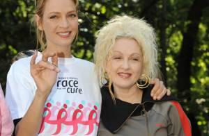 Uma Thurman : Naturellement ravissante, elle s'investit totalement avec... Cyndi Lauper !