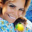 Laura Tenoudji avec sa fille Bianca, le 1er août 2020, photo Instagram