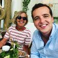 Le youtubeur e-dison, de son vrai nom Maxence Cappelle, et sa mère. Juillet 2020.
