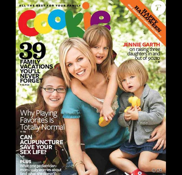 Jennie Garth et ses trois filles en couverture de Cookie