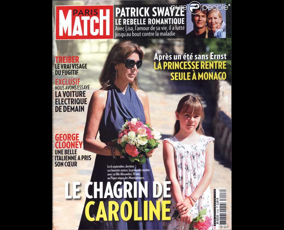 caroline de monaco en couverture de paris match. Black Bedroom Furniture Sets. Home Design Ideas