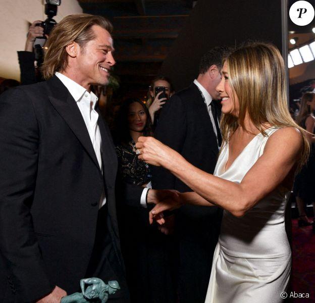 Brad Pitt et Jennifer Aniston aux SAG Awards à Los Angeles.