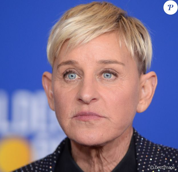 Ellen DeGeneres - Pressroom de la 77e cérémonie annuelle des Golden Globe Awards au Beverly Hilton Hotel à Los Angeles, le 5 janvier 2020.