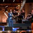 """Exclusif - Ibrahim Maalouf, le trompettiste et compositeur franco-libanais, durant le premier jour d'enregistrement de l'émission de télévision """"Nice Jazz Festival"""" au Théâtre de Verdure à Nice, le 24 juillet 2020. © Bruno Bebert/Bestimage"""