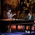 """Exclusif - China Moses et André Manoukian durant le premier jour d'enregistrement de l'émission de télévision """"Nice Jazz Festival"""" au Théâtre de Verdure à Nice, le 24 juillet 2020.  © Bruno Bebert/Bestimage"""