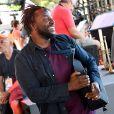 """Exclusif - Sly Johnson durant le deuxième jour des répétitions de l'émission de télévision """"Nice Jazz Festival"""" au Théâtre de Verdure à Nice le 25 juillet 2020. © Bruno Bébert / Bestimage"""