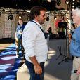 """Exclusif - André Manoukian et Hugues Aufray durant le deuxième jour des répétitions de l'émission de télévision """"Nice Jazz Festival"""" au Théâtre de Verdure à Nice le 25 juillet 2020. © Bruno Bébert / Bestimage"""