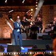 """Exclusif - Ibrahim Maalouf ( Première apparition télévisée du trompettiste, depuis sa relaxe le 8 juillet 2020 dans l'affaire d'agression sexuelle) , le trompettiste et compositeur franco-libanais, durant le premier jour d'enregistrement de l'émission de télévision """"Nice Jazz Festival"""" au Théâtre de Verdure à Nice, le 24 juillet 2020. © Bruno Bebert/Bestimage"""