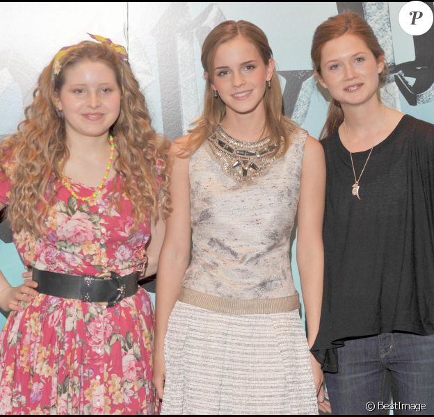 Avant première de Harry Potter and the Half-Blood Prince Photocall au Claridges Hotel de Mayfair, à Londres avec Emma Watson, Bonnie Wright, Jessie Cave. Credit: Davidson/Goff