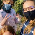Jessica Alba et ses filles Honor et Haven. Avril 2020.