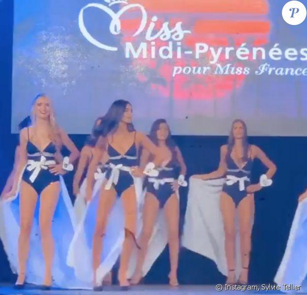 Sylvie Tellier a filmé la finale de Miss Midi-Pyrénées.