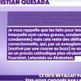 Guillaume Genton lit en direct dans TPMP la lettre de Christian Quesada, le 16 septembre 2020.